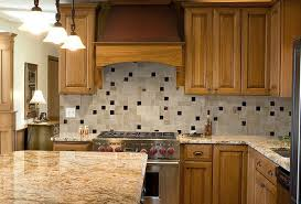 Timeless Backsplash Marvelous Slate Kitchen Backsplash With Wooden Storage Units For