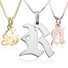 initials necklace initial necklace
