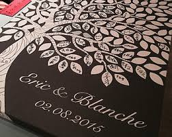 guest signing book tree guest book etsy