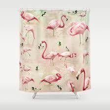 Flamingo Shower Curtains Flamingo Shower Curtain Shower Curtain Rod