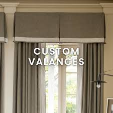 Fabric Covered Wood Valance Custom Window Treatments