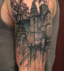 calf leg landscape tattoo buscar con google water color