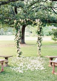 wedding arch garden getaway dress archives southern weddings