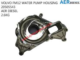 trak volvo volvo fm12 water pump housing 20505543 ajm auto continental corp