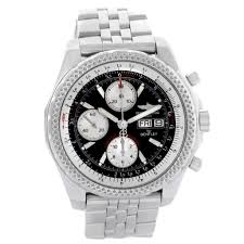 breitling bentley back breitling bentley gt stainless steel chronograph mens watch a13362