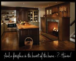 kitchen fireplace design ideas country kitchen fireplace design and photos