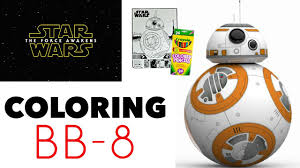 star wars the force awakens coloring book bb 8 youtube