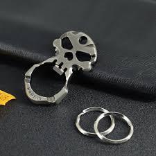 silver skeleton ring holder images Buy hephis skull knuckles car key chains unique jpg