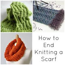 bind off basics how to end knitting a scarf