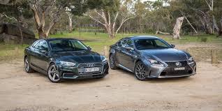 lexus performance parts australia 2017 audi a5 tfsi quattro v lexus rc200t comparison photos 1 of 81