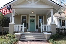 concrete front porch ideas porch craftsman with brick pavers brick