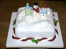 Christmas Cake Decorations Snowman by Snowman Christmas Cake Traditional Fruit Cake Covered With
