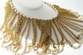 choker collar necklace vintage images Vintage miriam haskell silver baroque faux pearl choker collar bib jpg
