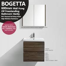 walnut bathroom vanity bogetta 600mm walnut oak pvc thermal foil timber wood grain