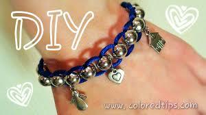 bracelet shamballa diy images Diy beads and lace bracelet lazy shamballa idunn goddess jpg