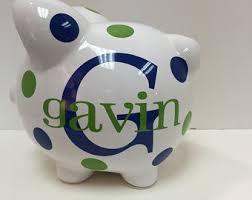 monogrammed piggy bank personalized gifts childrens giftsfun fabulous by latidagifts