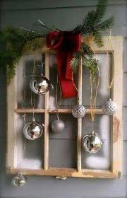 repurposed old window as a christmas decor 17 pinspired diy