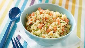 cuisine truite recette salade de pâtes et truite fumée recette plat recette