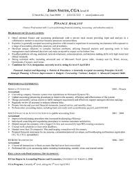 Finance Manager Resume Format S7a Resume Finance Intended For 17 Wonderful Sample Financial