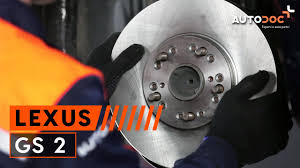 lexus parts plus how to replace front brake discs and brake pads lexus gs 2