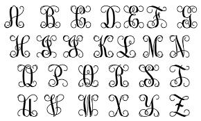 monogram letters single letter wooden monogram