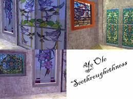 stained glass door windows mod the sims stained beist thee glass stained glass door and