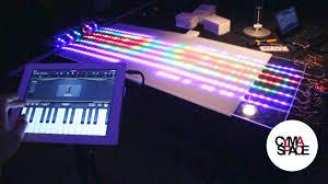 cymatic 2d sound reactive led light grid prototype ws2812b