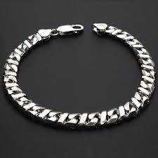 solid bracelet images 925 sterling silver solid fancy infinity flat cuban link 7 mm jpg