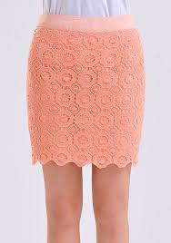 lace skirt pink hollow out wavy edge floral lace skirt skirts bottoms