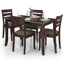 royal oak victor four seater dining table set walnut amazon in