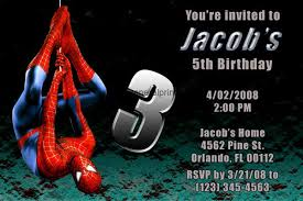 spiderman invitations with photo chatterzoom