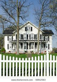 house with white picket fence stock images royalty free images