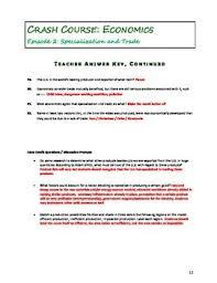 crash course economics worksheets episodes 1 5 by elise parker tpt
