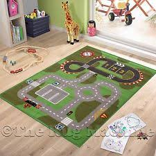 Car Play Rugs Childrens City Roads Design Play Rug Anti Slip Washable 133cm X