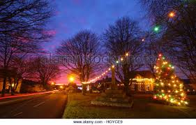 Christmas Decorations With Lights Uk by Rural Christmas Lights Uk Stock Photos U0026 Rural Christmas Lights Uk