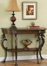 powell scroll console table masterpiece horse head demilune console table powell furniture