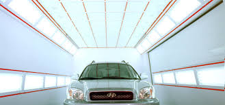 led paint booth lighting efficient spray booths for an increase of productivity for body shops