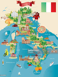 Maps Of Italy Cartoon Map Of Italy Vector Art Getty Images