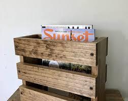 rustic magazine rack with 2 shelves magazine rack wood