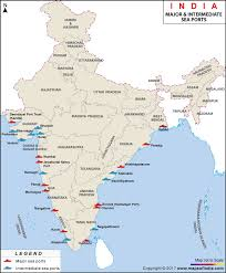 map port major sea ports map seaports in india