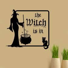 halloween decals the witch is in cauldron halloween vinyl decals holiday decor