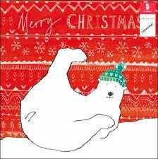 pack of 5 polar bear samaritans charity christmas cards cards