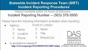 state of oregon oscio security incident response