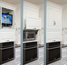hidden microwave kitchen traditional with white cabinets black