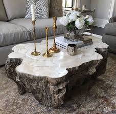 Trunk Shaped Clam Shell Coffee Table Clam Shells Tree Trunks And