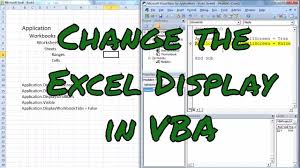 changing the display in excel with vba screen alerts scroll