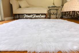 Lamb Skin Rugs 4th Of July Decor Red White Blue Independence Day Rectangle