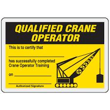 qualified crane operator card emedco