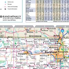 Chicago Area Map Rand Mcnally Illinois State Wall Map