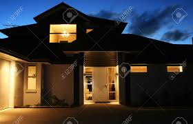 exterior house night stock photos royalty free exterior house